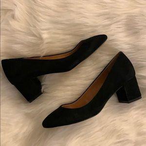 Jcrew suede block heel